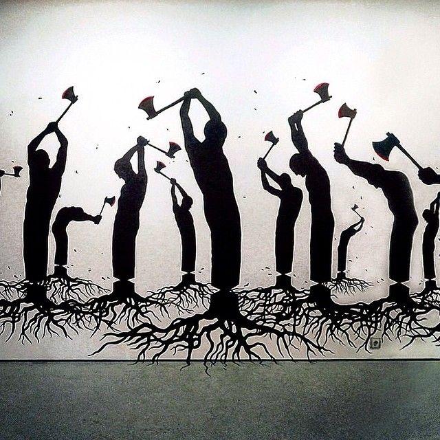 """""Human Nature"" Striking Mural by Pejac in Spain #streetart"""