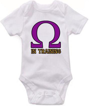 Omega in Training baby bodysuit