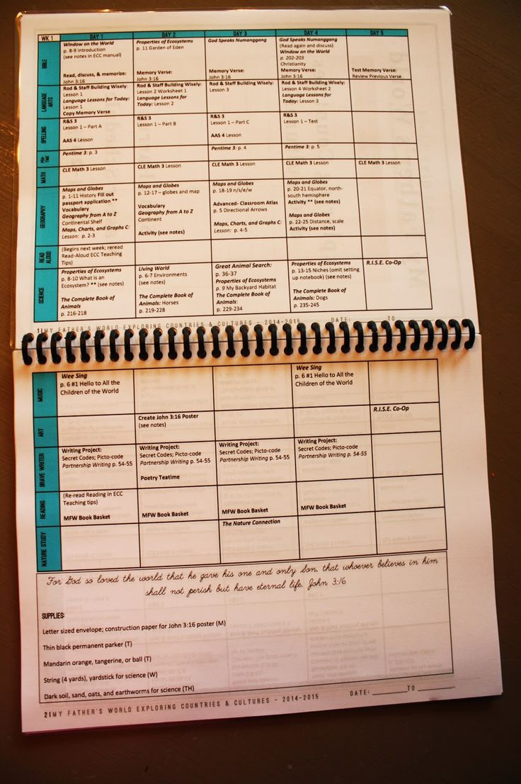Monarch Room: Free Printable Blank Schedule for MFW ECC