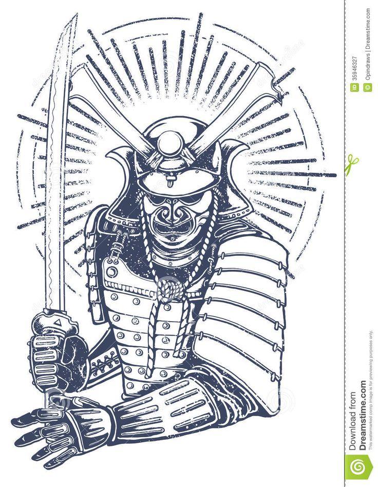 samurai warrior easy tattoo drawings drawing japan background tattoos japanese mask samurais replace artwork katana pesquisa google pyrography designs tatuagem