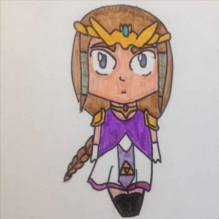 Zelda drawing by Dhalie Fortin