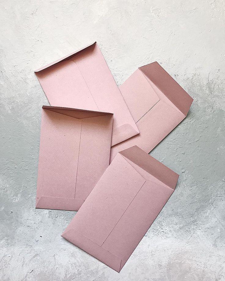 Handmade envelopes // blush, wedding, pink