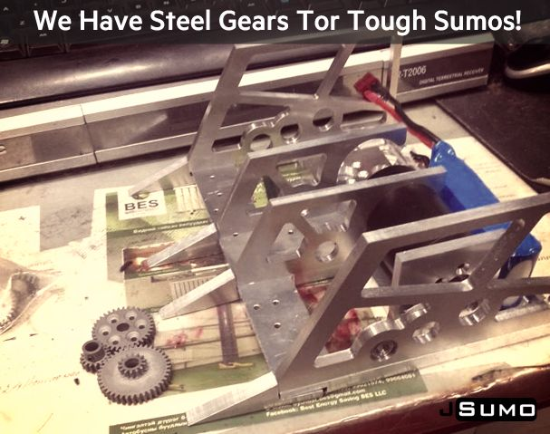 6.42:1 Gear Bundle for Sumo Robots http://www.jsumo.com/steel-gear-bundle-08-module-6421-reduction We ship to all countries daily! #jsumo (Photo from Mongolian Sumo Robot Project)