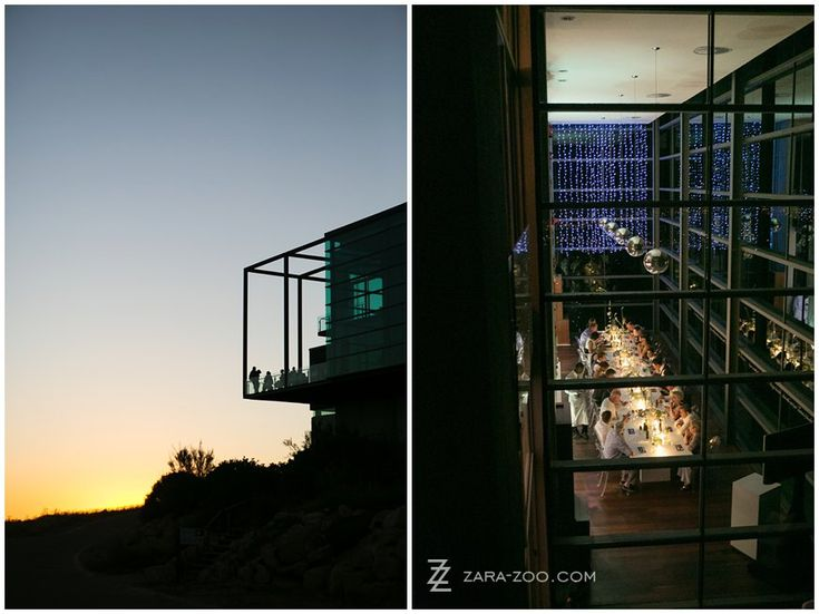 Waterkloof Restaurant in Somerset West is one of the most futuristic #wedding #venues I have worked at - Modern concrete structure cladded with glass from floor to ceiling.  And the culinary experience here is top shelf!  See more of this wedding at http://www.zara-zoo.com/blog/cape-town-destination-wedding/