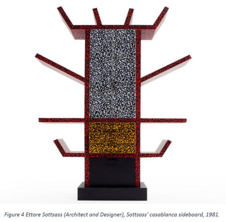Figure 4 Ettore Sottsass (Architect and Designer), Sottsass' casablanca sideboard, 1981.