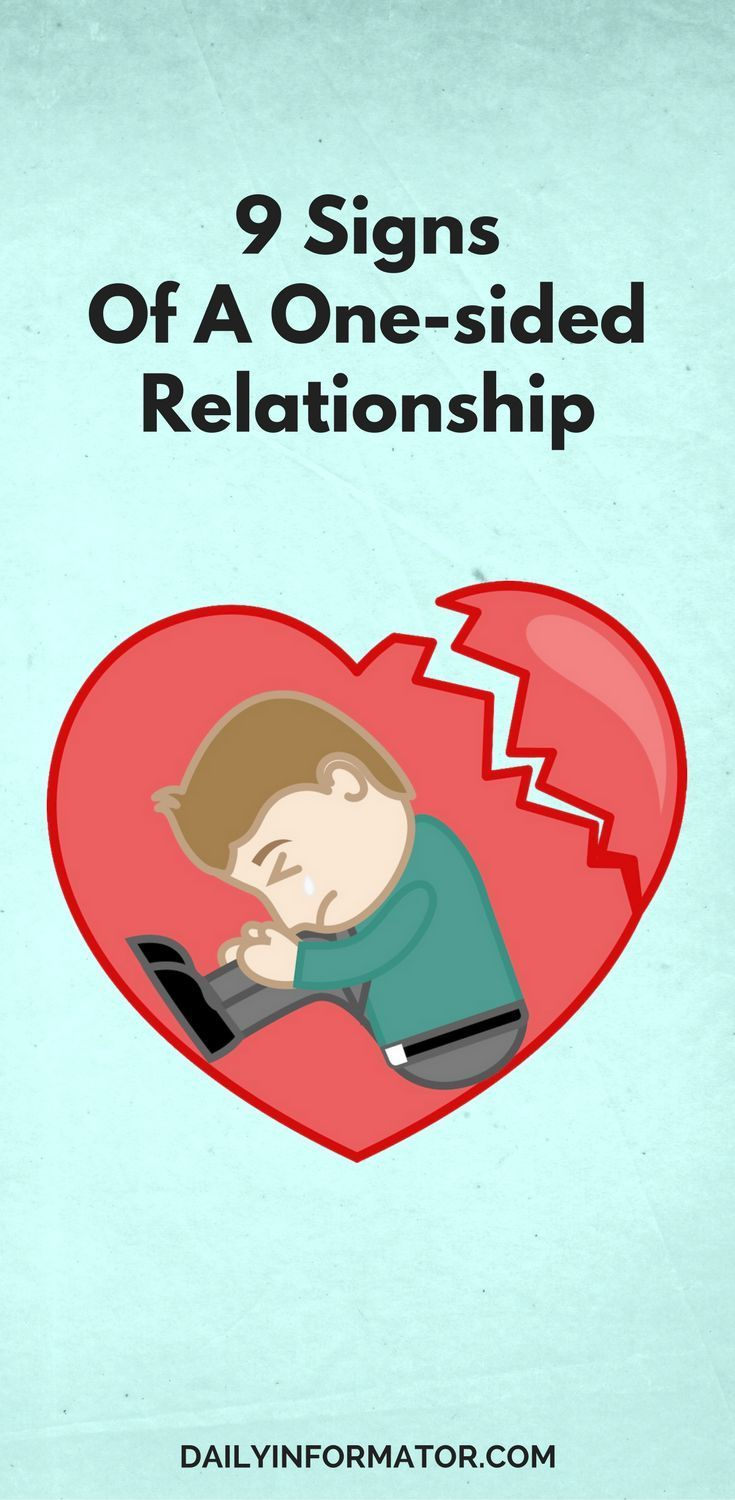 one sided relationship Campbell explains that a one-sided relationship involves one person investing much more time and energy (and, in some cases, money) into the relationship than their partner.