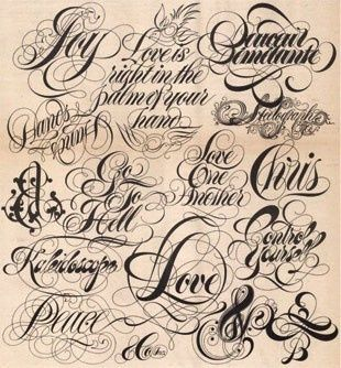 703 best tattoo lettering and fonts images on Pinterest | Tattoo ...