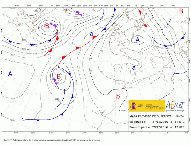 El tiempo del miércoles: En Malaga y en el estrecho lluvia y viento. Cuidado con las nieblas en el interior de la peninsula.
