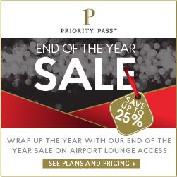 New Offers and Deals: 25% Off End of the Year SALE on Priority Pass   BUY NOW  Unwrap our gift to you of up to 25% off memberships right in time for the holidays. Theres never been a better time than now to join the worlds most rewarding airport lounge access program. Snag this amazing end of year offer before its gone for good.  Priority Pass membership provides a VIP airport experience regardless of the airline you fly or class you travel. Access over 1000 quiet comfortable airport lounges…