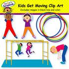 This Kids Get Moving Clip Art set, from TeacherScrapbook, was designed to give you images of kids being active.  The images contained in this set a... $5.00