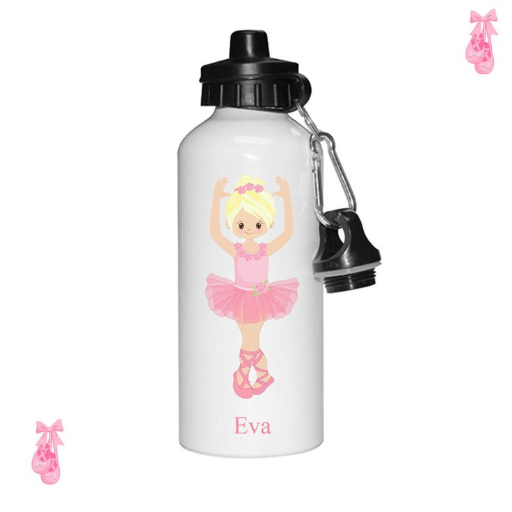 Personalised water bottle, Ballet water bottle, Dance water bottle, water bottles for girls, sports bottles, by cjcprint on Etsy