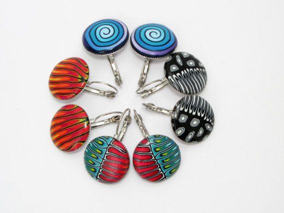 Ohrschmuck der Besonderen Art Ohrringe millefleur von polymerdesign