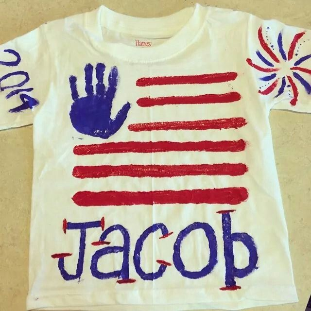 4th of july homemade shirt
