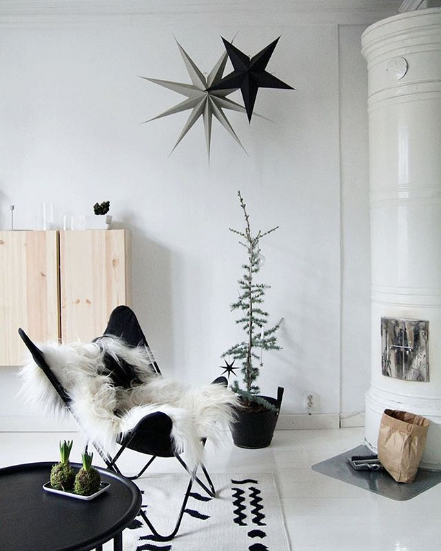 More from last year, maybe it's time to hang those paper ✨ again! #christmas #joulu #jul #livingroom #homedecor #interior #interiör #homestyling