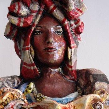 Statue of Marie Laveau created by artsit Ricardo Pustanio