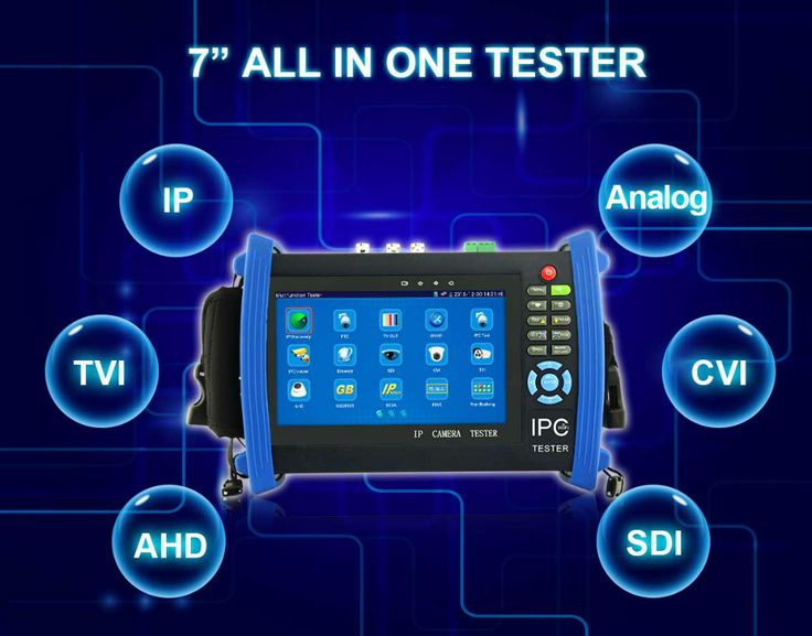 Best selling CVI TVI AHD all in one CCTV IP and Analog poe camera tester with IP address search