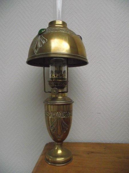 Catawiki online auction house: Art nouveau stijl - lamp met gekleurde stenen