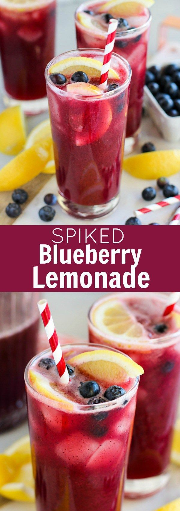 Spiked Blueberry Lemonade - Easy Homemade Blueberry Lemonade spiked with Vodka! Sweet and tart, cold and refreshing - the perfect cocktail for summer! (Msg 4 21+) ad #SVEDKASummer