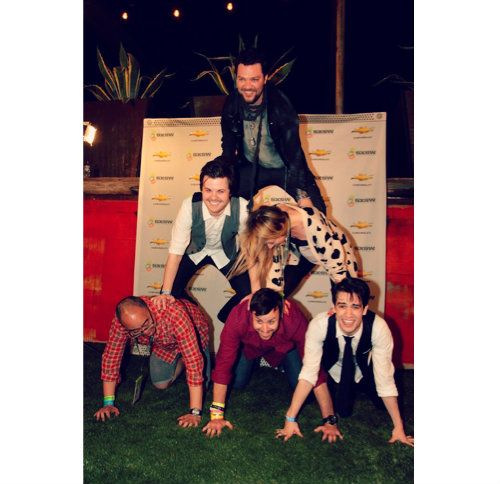 sxsw human pyramid...look at spencer's smile!