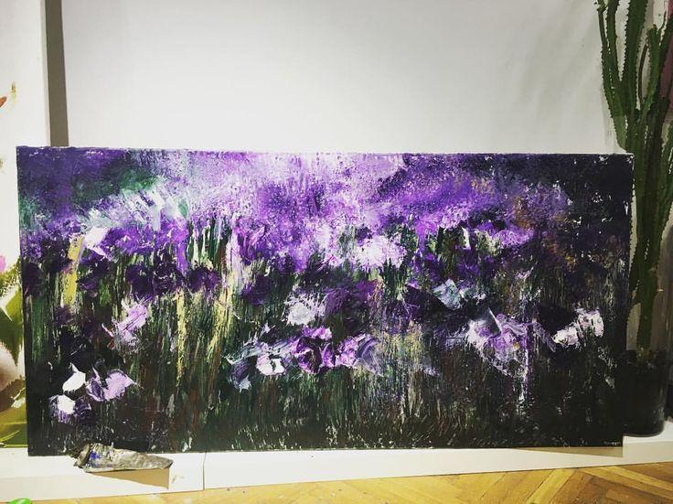 "59 aprecieri, 1 comentarii - BMR - painter (@bogdanmihairadu) pe Instagram: ""What dreams may come #mywork #contemporaryart #modernart #motivation #purple #colors #flowers…"""