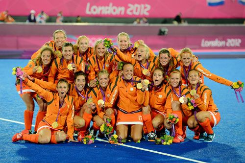 SheWired - Shot of the Day: Most Out Team at Olympics, the Dutch Field Hockey Team, Takes Gold