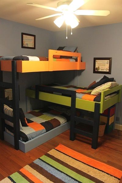Kids Bedroom Ideas and Designs for 3 Children