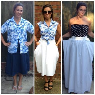 The BEFORE AND AFTER - all the #refashion #howto details on the blog!