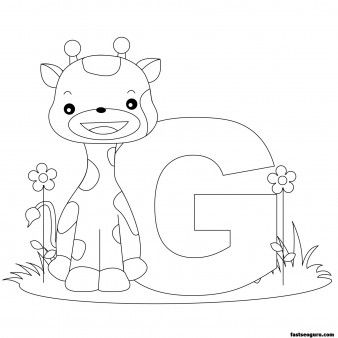 Printable Animal Alphabet worksheets Letter G is for Giraffe - Printable Coloring Pages For Kids