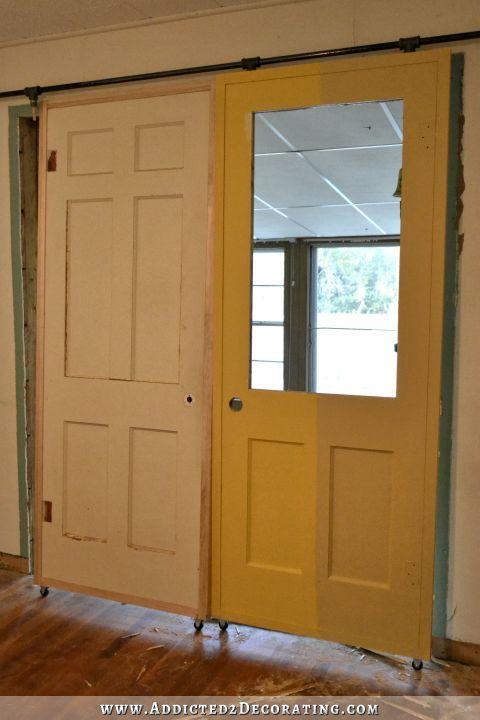 Diy Sliding French Barn Doors With Custom Fretwork Panels