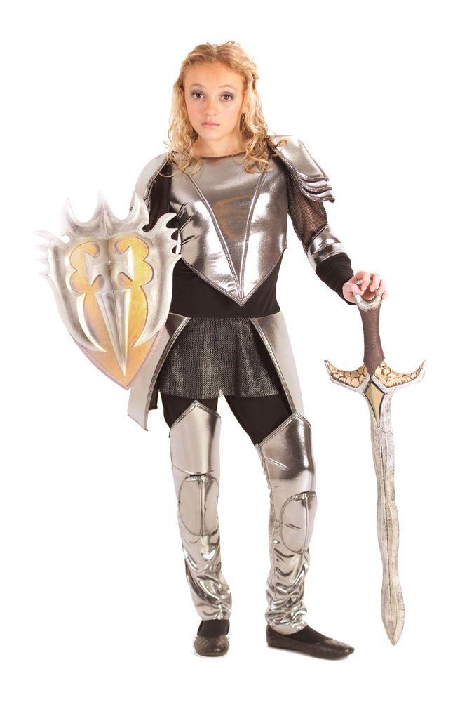 warrior snow knight armor mulan joan of arc costume 8 9 10 12 14 16 tween girls