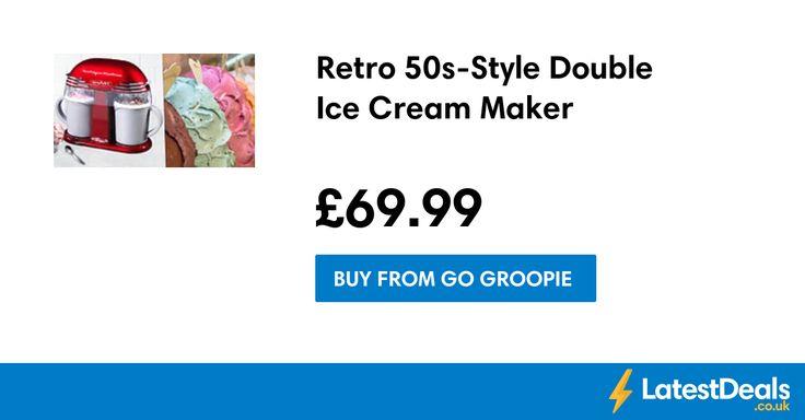Retro 50s-Style Double Ice Cream Maker, £69.99 at Go Groopie