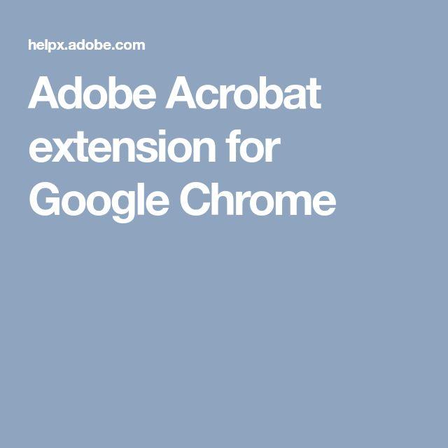 Adobe Acrobat extension for Google Chrome