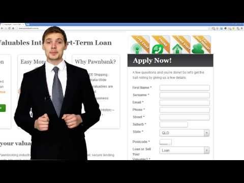 Pawnbank Website loan application form video