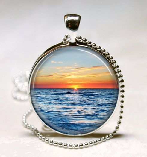 Beach Jewelry  Nautical Ocean Sunset Art by MissingPiecesStudio, $9.95