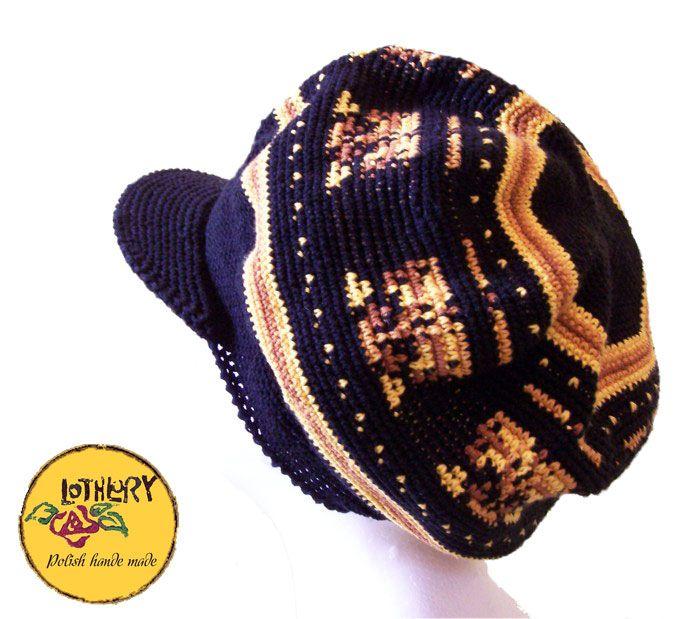 Reggae czapka szydełkowa Lothlory