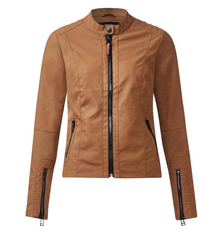 Damen Kunstlederjacke Bikerjacke braun Neu Gr.40 in Kleidung & Accessoires, Damenmode, Jacken & Mäntel | eBay