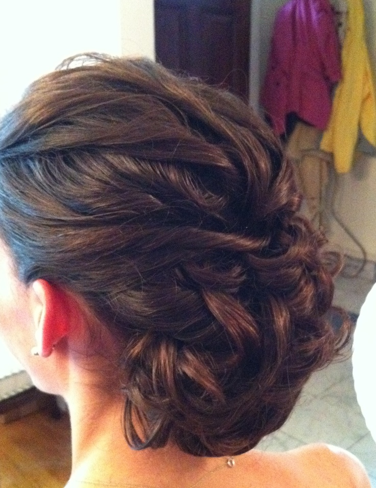Curly Chignon by Calista Brides Hair & Makeup Artistry