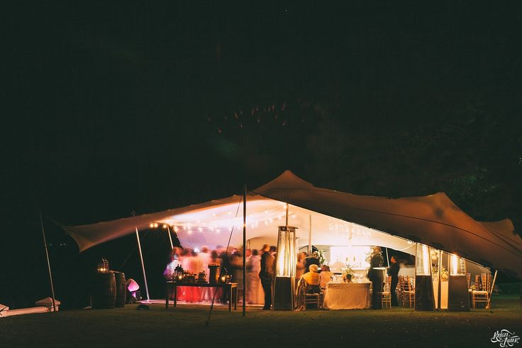 Photo by Kristi Agier Photography Tent on the Manor Huose lawn at night