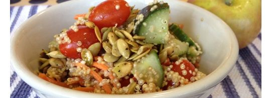 Quinoa Salad with Lime Dressing (from the Brooks kitchen): Food Recipes, Runner S Recipes, Healthy Eats, Clean Eating, Eating Clean, Healthy Foods, Healthy Recipes, Running Food