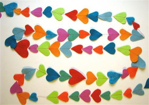 Guirnalda de corazones: Diy Valentines Day, Valentines Crafts, Crafts Ideas, For Kids, Heart Garlands, Kids Crafts, Colors Heart, Felt Garlands, Felt Heart