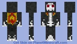 Evil Skeleton in Black Hooded Robes Minecraft Skin