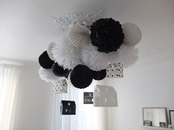 Black & White Party | Make the tissue paper lanterns myself