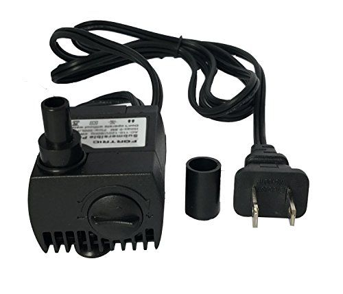 It's a great submersible water pump for aquarium fountains spout and hydroponic systems.Small size but powerful enough. Max Flow Rate: 80 GPH (300L/H) Max Lift: 0.6M Power: 4 Watt Voltage: 110 - 12...