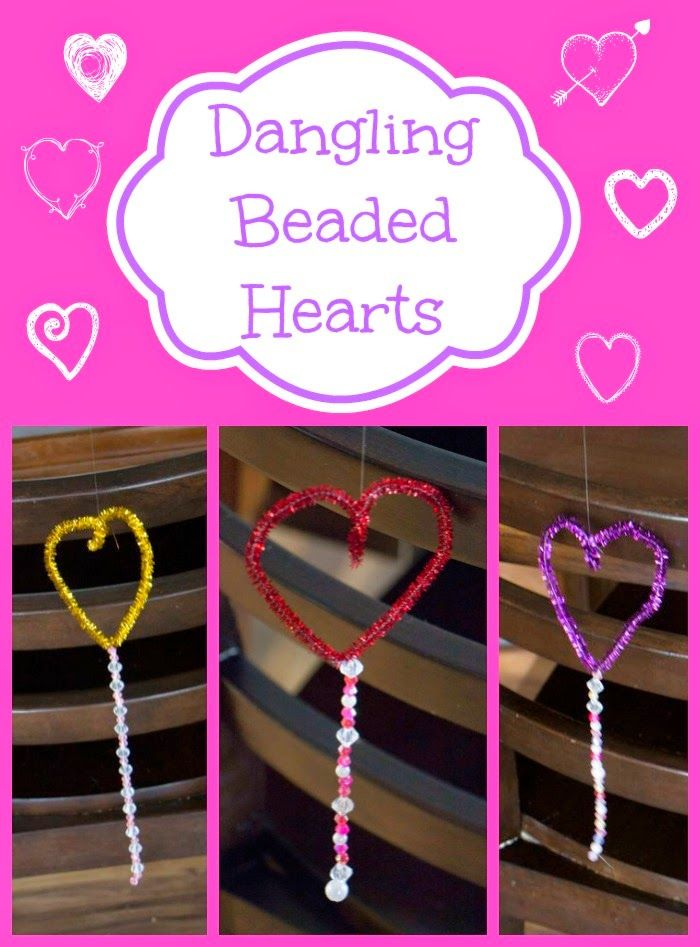 Simple Heart Decorations for Valentine's.