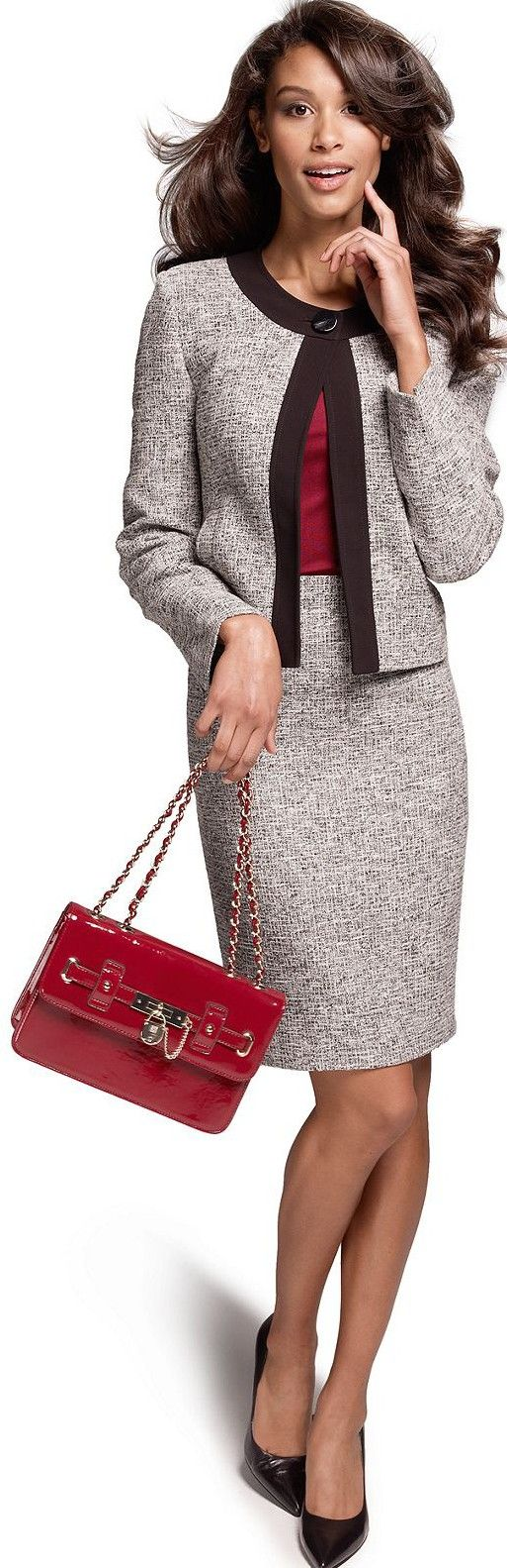 Beautiful suit..perfectly done, great for career dressing and could be split up and used separately for different looks.