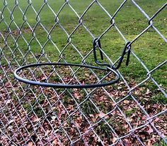 I like this idea to add interest to chain link. This is for sale on eBay so may not be available.