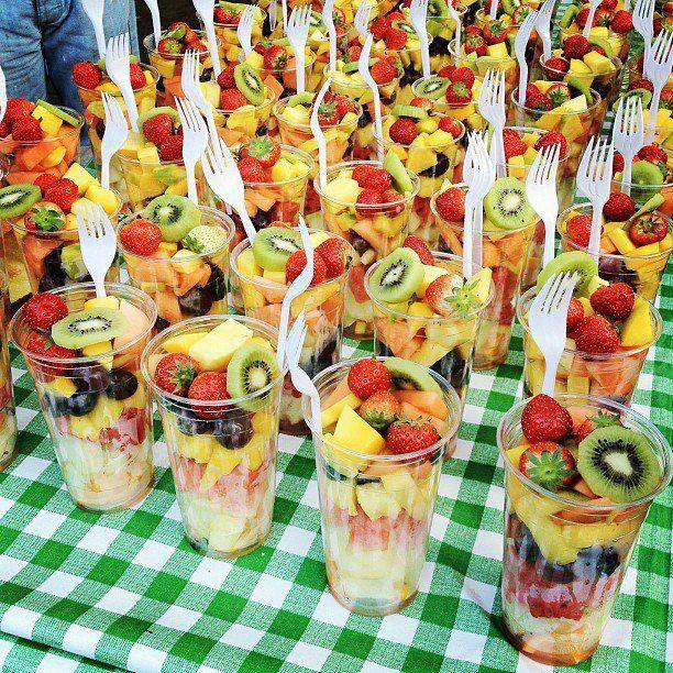 frutas en fiestas infantiles con bocadillos sanos