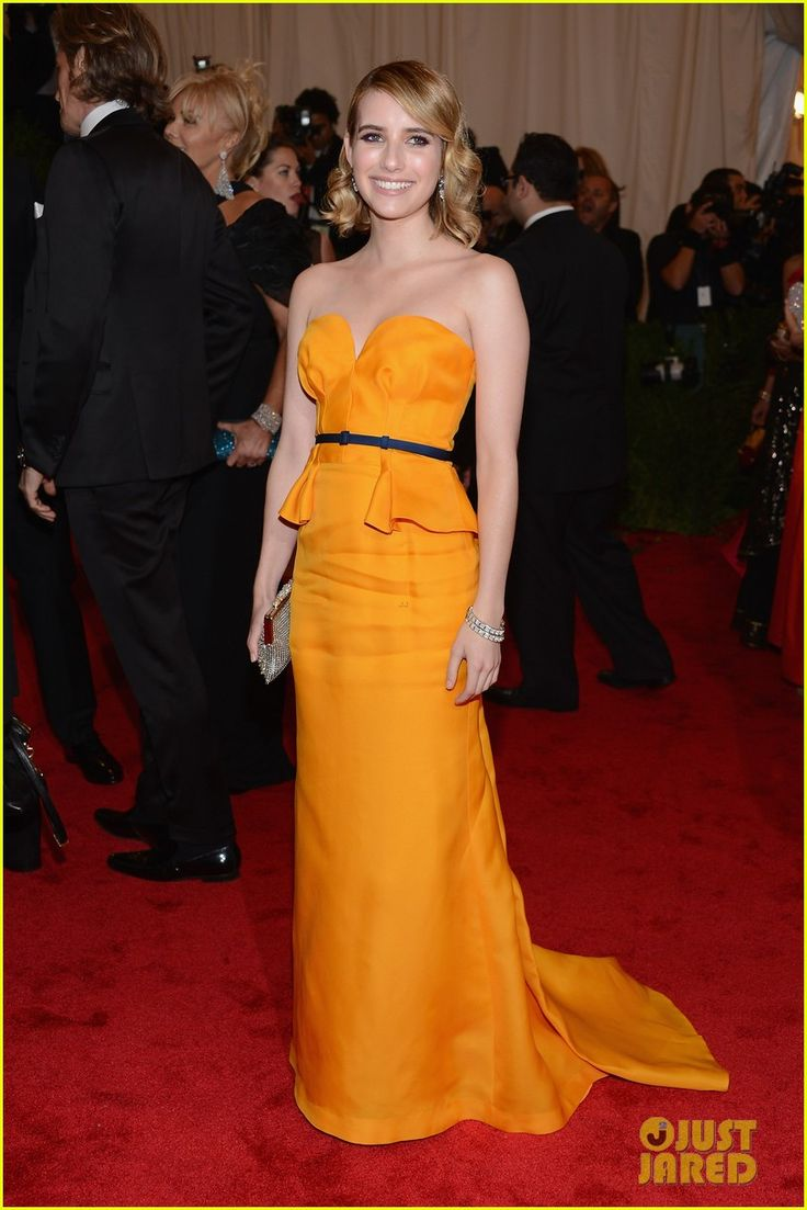 Emma Roberts lights up on the red carpet at the 2012 Met BallEmmaroberts, Metgala, Met Gala, 2012 With, Emma Roberts, Red Carpets, Met Ball, Gala 2012, Escada Dresses