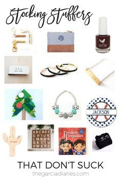 Holiday Gift Guide: Stocking Stuffers (That Don't Suck) // Stocking stuffers and gifts that your husband, wife, toddlers, kids will actually want and like!
