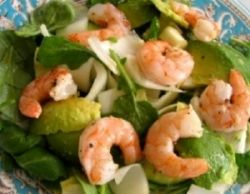 Farmers Market Shrimp Salad with Arbequina olive oil